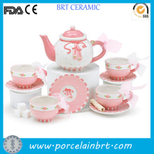 Best Gift Modern Pink Flower Beautiful Tea Set