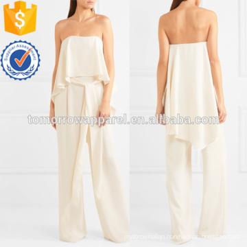 Strapless Crepe Jumpsuit Manufacture Wholesale Fashion Women Apparel (TA3032J)