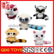 keychain do brinquedo enchido & do luxuoso keychain do macaco enchido barato do mini
