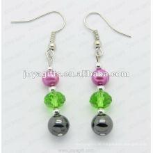 Mode Hämatit Glas Perlen Ohrring