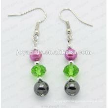 Fashion Hematite Glass Beads Earring
