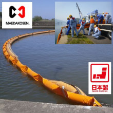 High performance oil spill containment boom for outflows of oil by Maeda Kosen Co., Ltd. Made in Japan (spill containment)