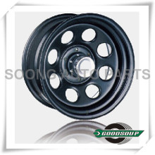 "Soft 8-Non Beadlock Wheels GS-101 Steel Wheel from 15"" to 17"" with different PCD, Offset and Vent hole"