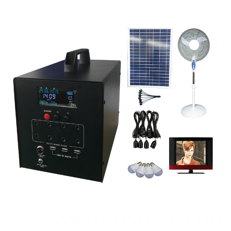 60w screen dc solar home system