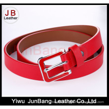 Fashion Women PU Belt with Petrol Dripping Buckle