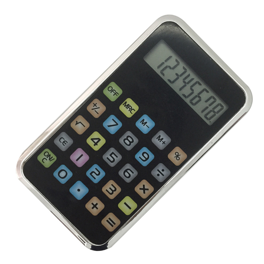 8 Digits Colorful Mobile Phone Design Pocket Calculator