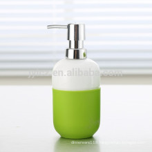 ceramic lotion dispenser with plastic pump and silicone band