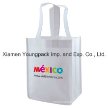Eco Friendly Reusable White Promotional Non-Woven Tote Shopping Bag