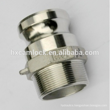 Made in China Stainless steel camlock male adaptor, type F BSP, NPT thread