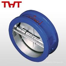 válvula de retención de brida de doble puerta de fluido wafer para línea de agua