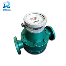 Pulse output oval gear oil and liquid flowmeter