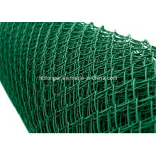 PVC-beschichtetes galvanisiertes Kettenglied-Maschendraht-Fechten / Diamant-Maschendraht
