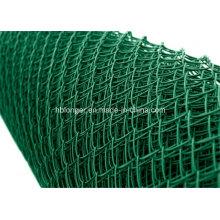 Clôture galvanisée enduite par PVC de grillage de maillon de chaîne / grillage de diamant