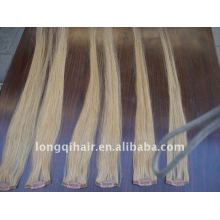 white clip in human hair extension