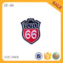 EP-08 apparel embroidered label for jeans and garment