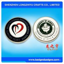 Hard Enamel Metal Name Badge Plate Gold