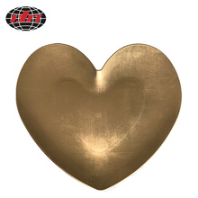 Gold Heart-shaped Plastic Charger Plate