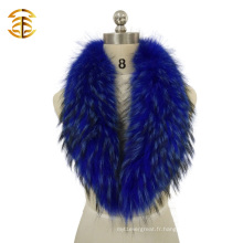 Véritable croque de fourrure de raccoon véritable Dyrd Color Raccoon Fur Skin Trim