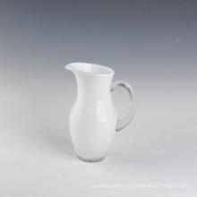 Vase en verre blanc pour mariage