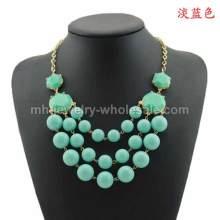 Акриловые бусины связь цепи мода ожерелье подарок для подруги