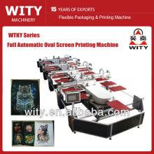 Máquina de impresión textil ovalada automática