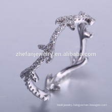 fashion latest 925 silver china cz rings with gemstone engagement