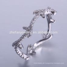 moda últimas 925 prata china cz anéis com engajamento de pedras preciosas