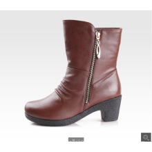 2015 China shoe factory classy cheap leather women boots
