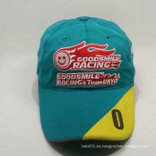 Gorra de béisbol de algodón de la característica común del tejido con insignia del bordado