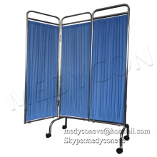 MEDYCON-WS01 Folds stainless steel hospital ward screen for patient bed