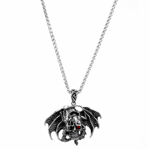 Skull Death Head Bat Wing Men's Pendant