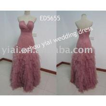 2013 nuevo vestido de noche del grano del leopardo del diseño ED5655