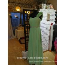 Prom formal vestido de noche Floral A línea de hombro vestido de fiesta P090