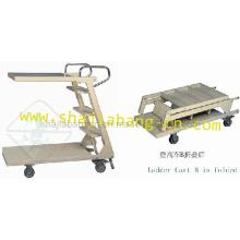 Metal Ladder Cart With Wheels (Ladder Cart-B)
