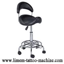 Columna ajustable del tatuaje de la silla del tatuaje negraSilla del tatuaje portátil