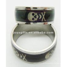 Nuevo anillo del humor del acero inoxidable del estilo 2013, anillo de la decoloración