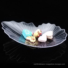 Tableware Plastic Dish Disposable Saucer Leaf Dish