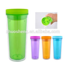 acrylic wine glass tumbler,acrylic tumbler with straw,personalized double wall tumbler