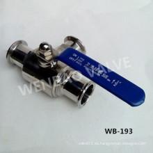 200wog SUS304 Tipo de Tee válvula de bola sanitaria