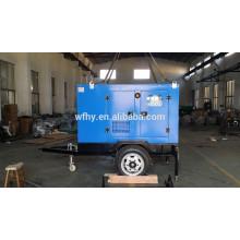 40kw cuatro ruedas conjunto generador remolque