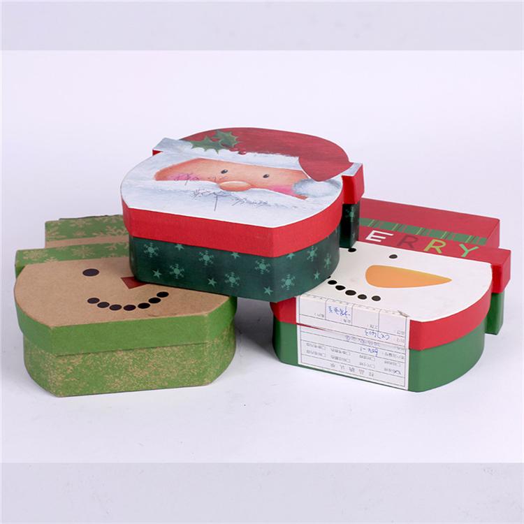 Decorative Christmas Santa Claus Cardboard Paper Gift Box
