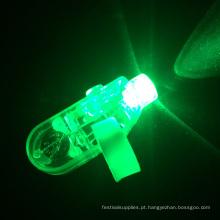 LED verde ilumine o anel de dedo