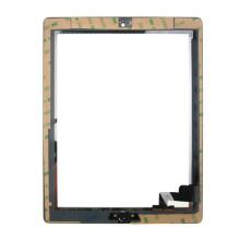 Pantalla táctil negra al por mayor para iPad 2 completo con Homebutton y adhesivo