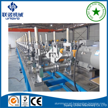 Automatic supermarket storage rack roll forming machinery