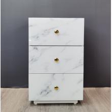 Table de chevet en marbre en verre