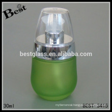 lotion bottle, newest design fancy lotion bottle for silver serum and clear cap, wholesale glass bottle for perfume