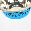 eco friendly custom stainless steel pet food dog feeding bowl