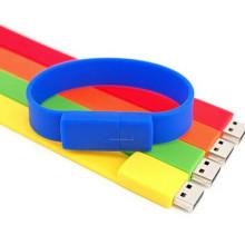 Venta caliente personalizadas silicona USB Wristband