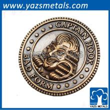 Promoção presente vela quente antiga moeda britânica indiana
