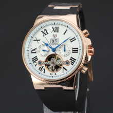 Moda Automatic motion skeleton mens watch